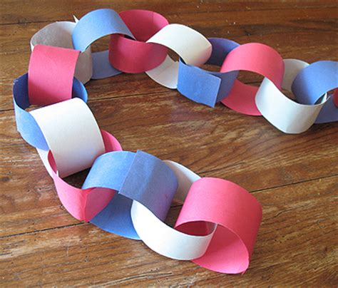 paper chain crafts idea box memorial day crafts for