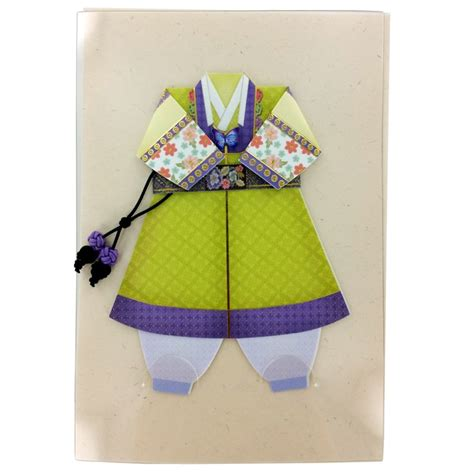 origami costume traditional korean origami costume card set boy