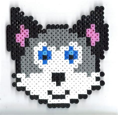 perler bead wolf pin by womble on hama inspirations