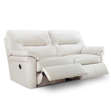 leather sofa electric recliner g plan washington leather 3 seater electric recliner sofa