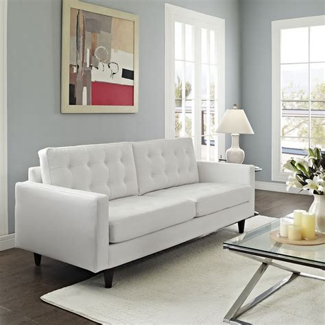 white tufted leather sofa empress tufted bonded leather sofa white dcg stores