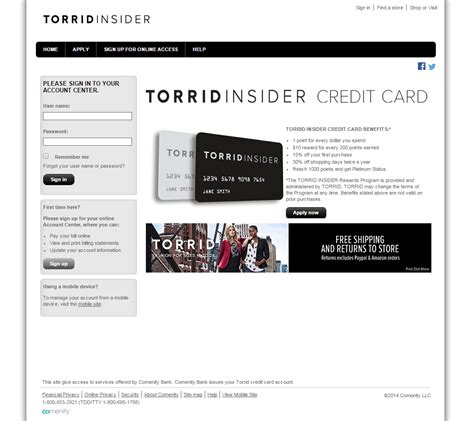 make credit card torrid credit card login make a payment