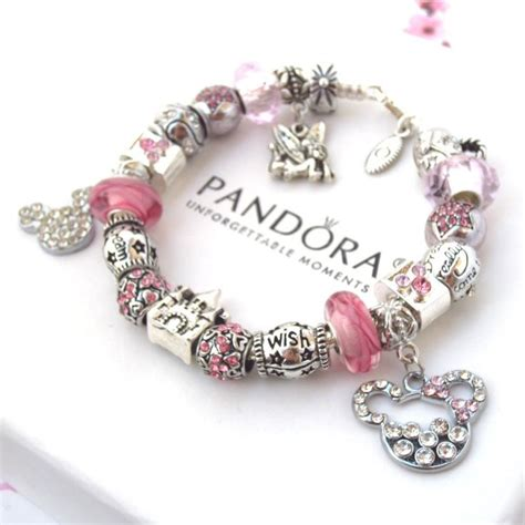 charming bead shop authentic pandora bracelet pink mickey mouse wish