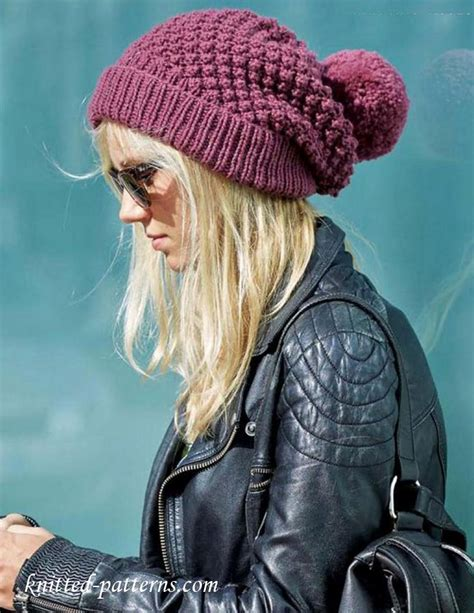 womens knit hat pattern s beanie knitting pattern free