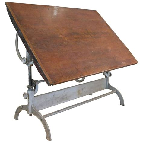 cast iron drafting table antique industrial cast iron adjustable drafting table at