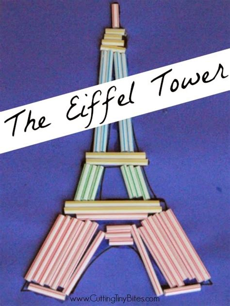 eiffel tower craft for eiffel tower craft cutting tiny bites