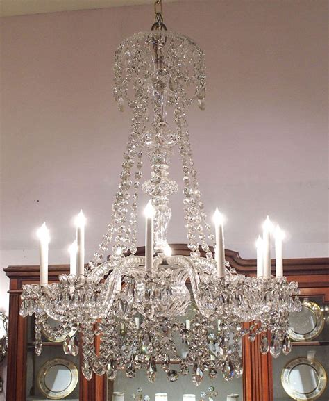 antique waterford chandelier antique waterford lead early 19th century