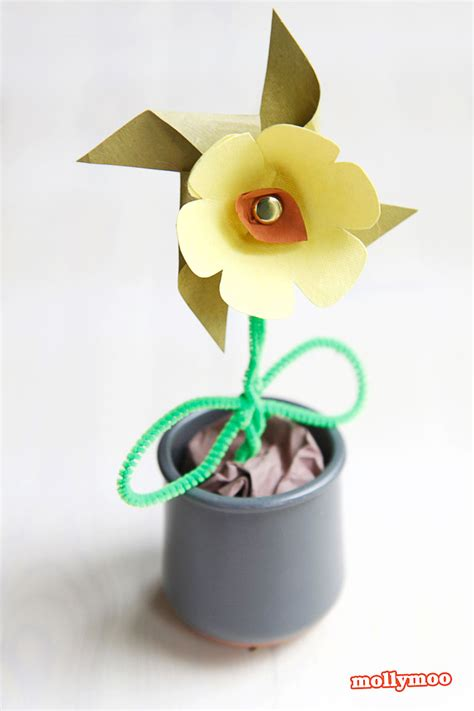 paper flower craft for children mollymoocrafts paper flower pinwheel craft for