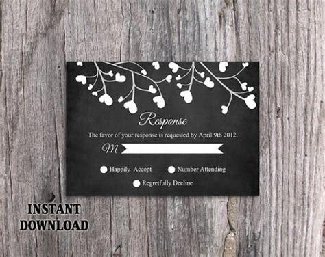 diy chalkboard sign template diy wedding rsvp template editable word file instant
