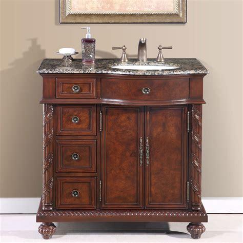 36 Bathroom Vanity Cabinet 36 Perfecta Pa 139 Bathroom Vanity R Single Sink Cabinet Chestnut Finish Granite