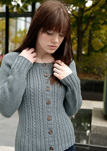 chic knits easy cable knitting pattern cabled cardigan pattern