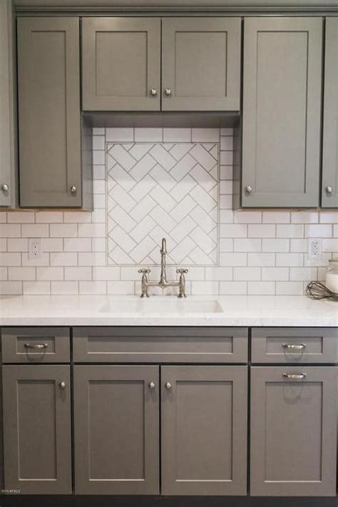 subway tiles for backsplash in kitchen gray shaker kitchen cabinets with white subway tile