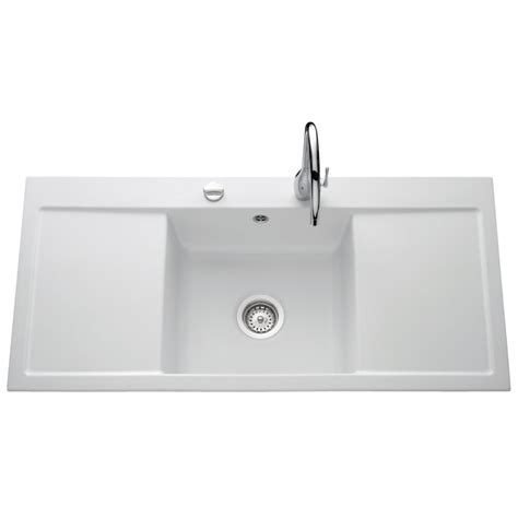 villeroy and boch kitchen sinks villeroy boch single bowl and drainer 1060mm