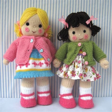 knit doll polly and kate knitted dolls pdf email knitting