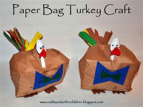 paper bag turkey crafts thanksgiving paper crafts for paper crafts ideas