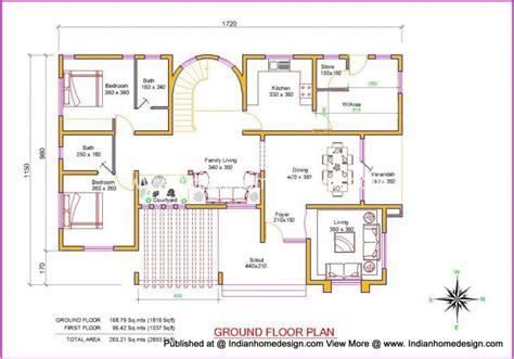 villa plan villa design plan and elevation of 2853 sq ft independent
