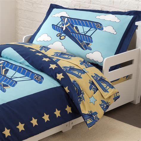 airplane bedding kidkraft airplane toddler bedding set