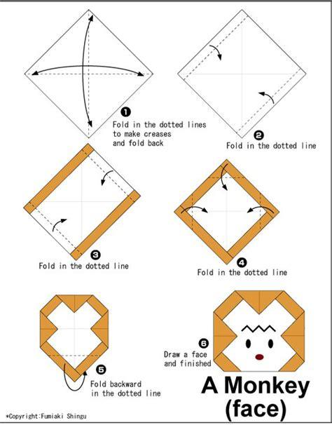 origami monkey diagram origami monkey 9 monkey kid origami