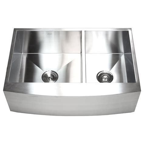 60 40 kitchen sink 33 inch stainless steel curved front farm apron 60 40
