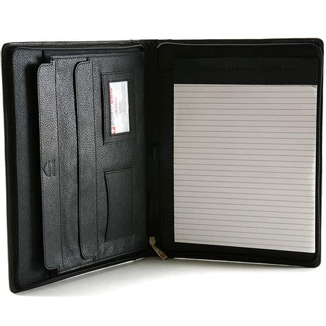 leather portfolio with zipper alpine swiss leather zippered writing pad portfolio