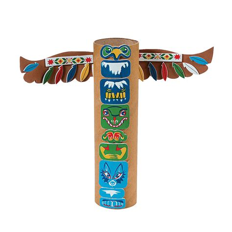 totem pole craft for american totem pole craft kit trading