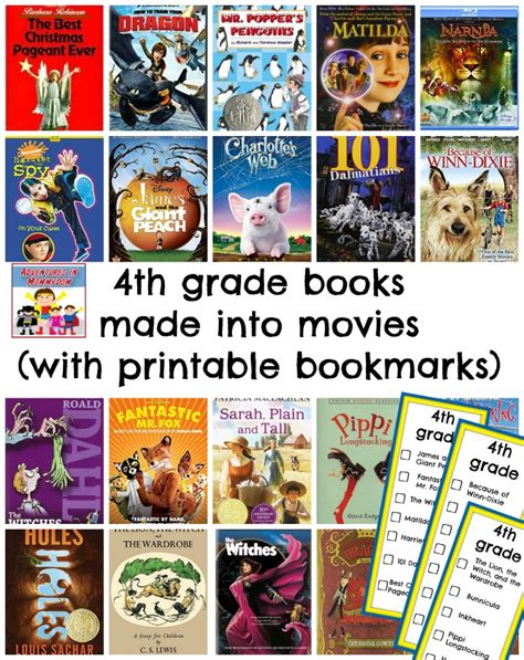 4th grade picture books 100 books made into to enjoy with your family