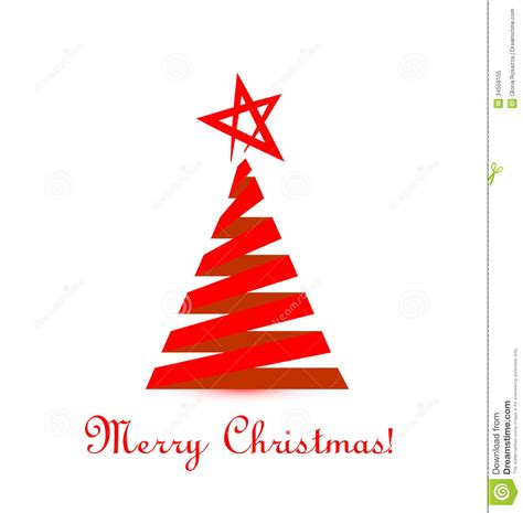 roter weihnachtsbaum tree stock illustration image of bright