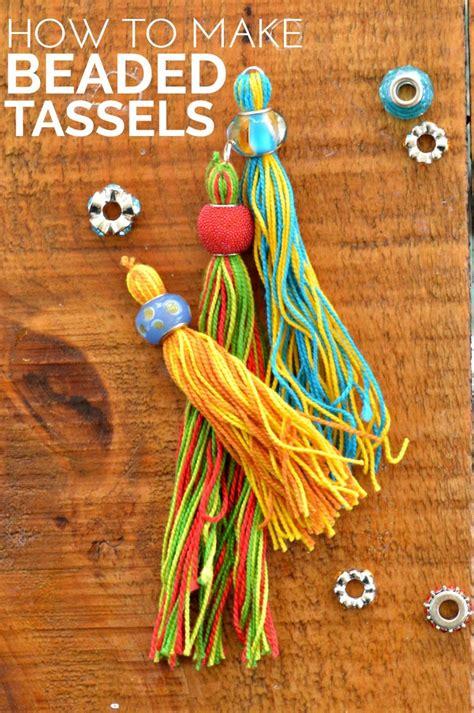 beaded tassels how to make diy beaded tassels