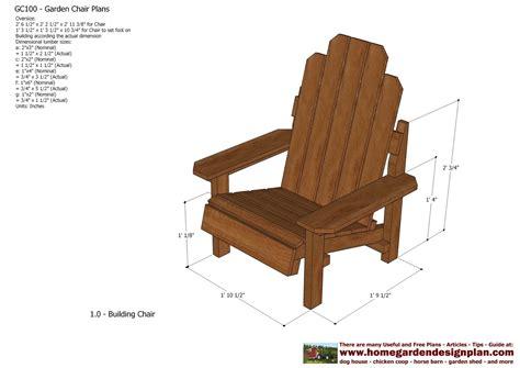 chair plans woodworking home garden plans gc100 garden chair plans out door