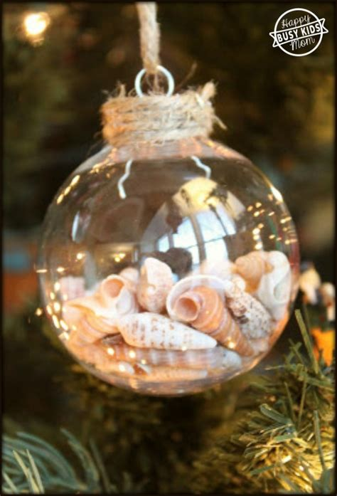 make your own ornaments how to make your own seashell ornament
