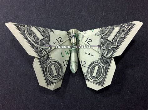 butterfly dollar bill origami pin by vincent on money dollar origami
