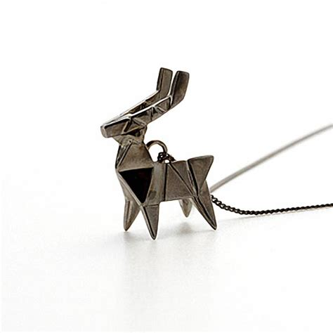 origami steel not paper craft but origami necklace gadgetsin