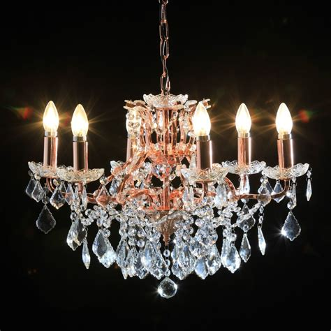 and gold chandelier antique cut glass copper and gold chandelier 6 arm