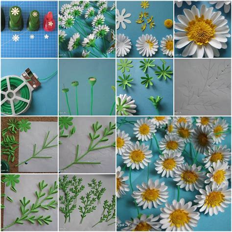 paper crafts step by step how to make paper daisies step by step diy tutorial