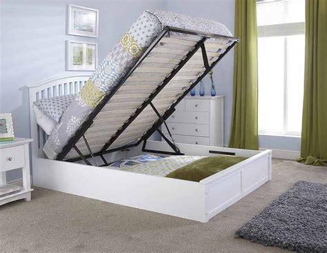 white ottoman bed frame madrillo white ottoman storage bed frame