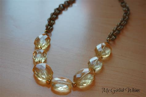 how do i make jewelry chunky yellow bead chain necklace my girlish whims
