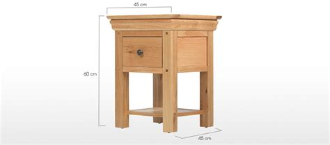 bedside table dimensions constance oak 1 drawer bedside table quercus living