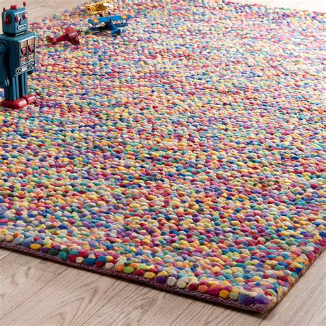 Colorful Area Rugs by Rainbow Woollen Rug Multicoloured 140 X 200cm Maisons