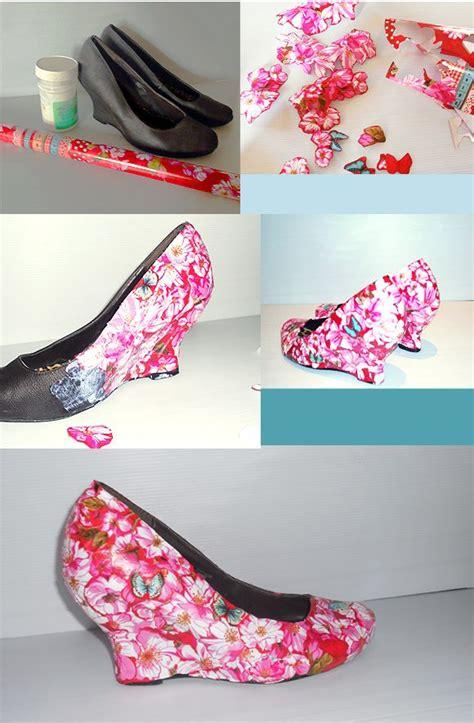 decoupage on shoes floral shoes diy d 201 coupage shoes fashion