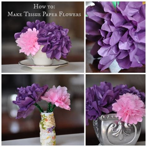 tissue paper flower craft for craft how to make tissue paper flowers