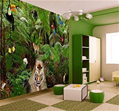 Nursery Tree Wall Stickers Uk jungle wallpaper mural amazon co uk kitchen amp home
