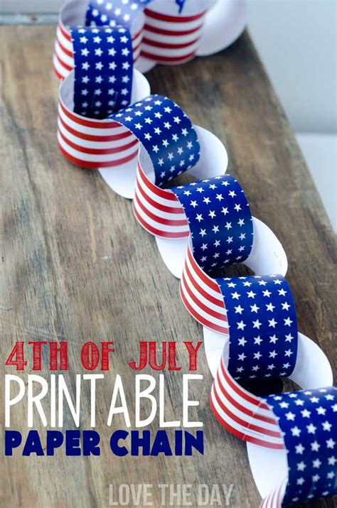 4th of july crafts 4th of july crafts for a patriotic paper chain