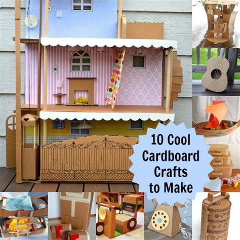 cardboard crafts for 10 cardboard projects that will