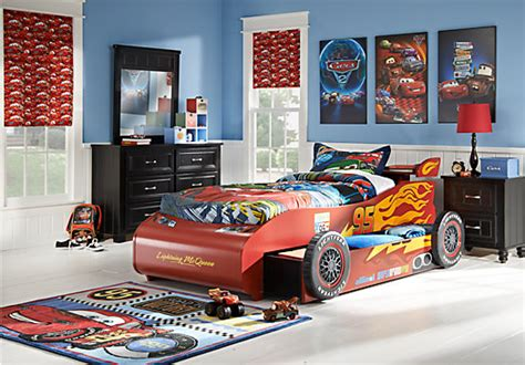 lightning mcqueen bedroom furniture disney cars black 8pc novelty bedroom disney cars
