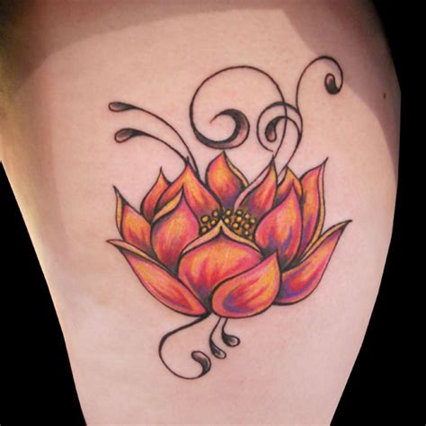 orange lotus flower tattoo designs tattoo love
