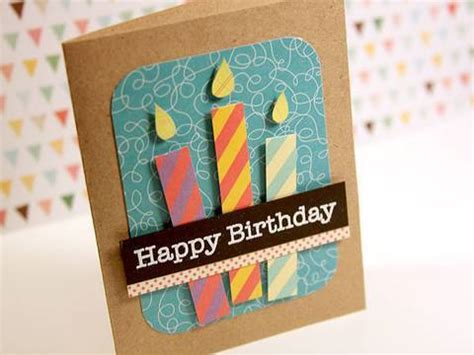 how to make a birthday card for a boy happy birthday paper pieced candles make a card monday