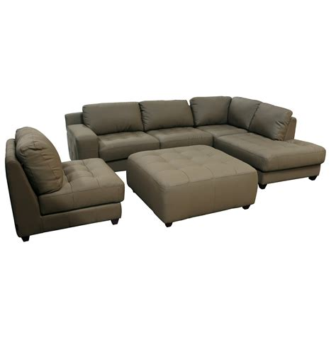 ottoman sectional sofa with chaise ottoman zen collection left facing