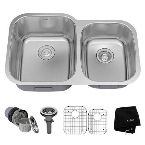 kraus stainless steel kitchen sink kraus undermount stainless steel 32 in bowl