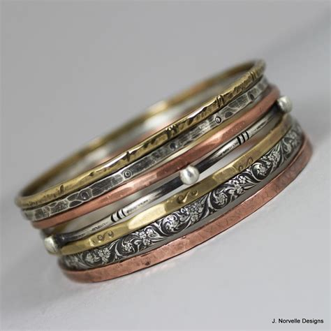 metal jewelry mixed metals jewelry bangle bracelets sterling copper