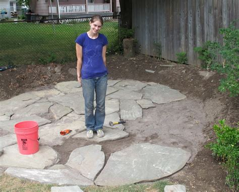 how do you build a patio how to lay a flagstone patio merrypad